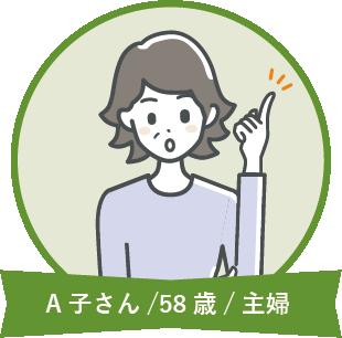 A子さん/58歳/主婦